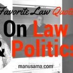 quote law and politics